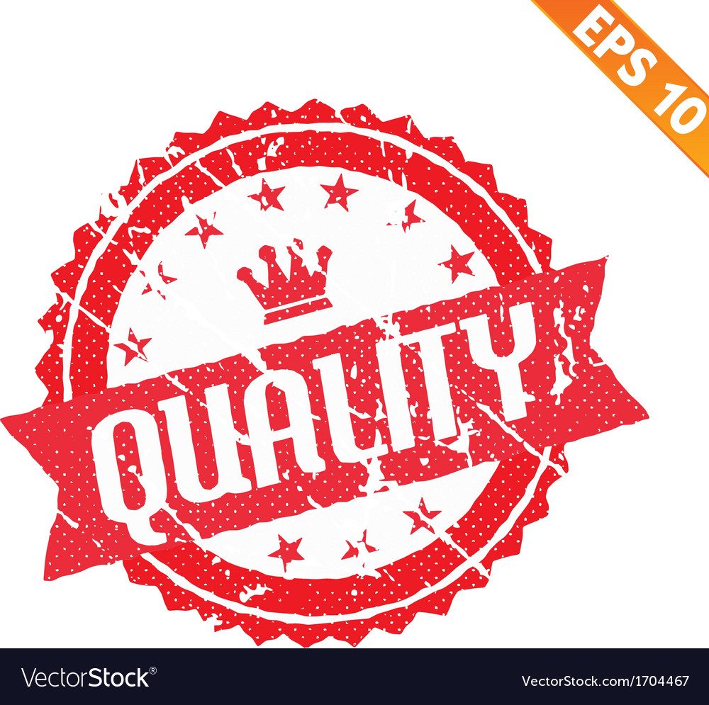 Rubber stamp with quality word - - eps10 vector | Price: 1 Credit (USD $1)