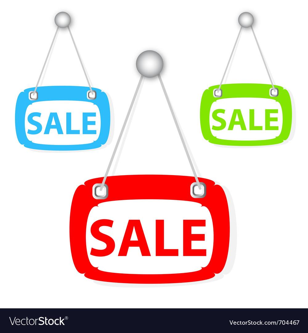 Sale signboard vector | Price: 1 Credit (USD $1)
