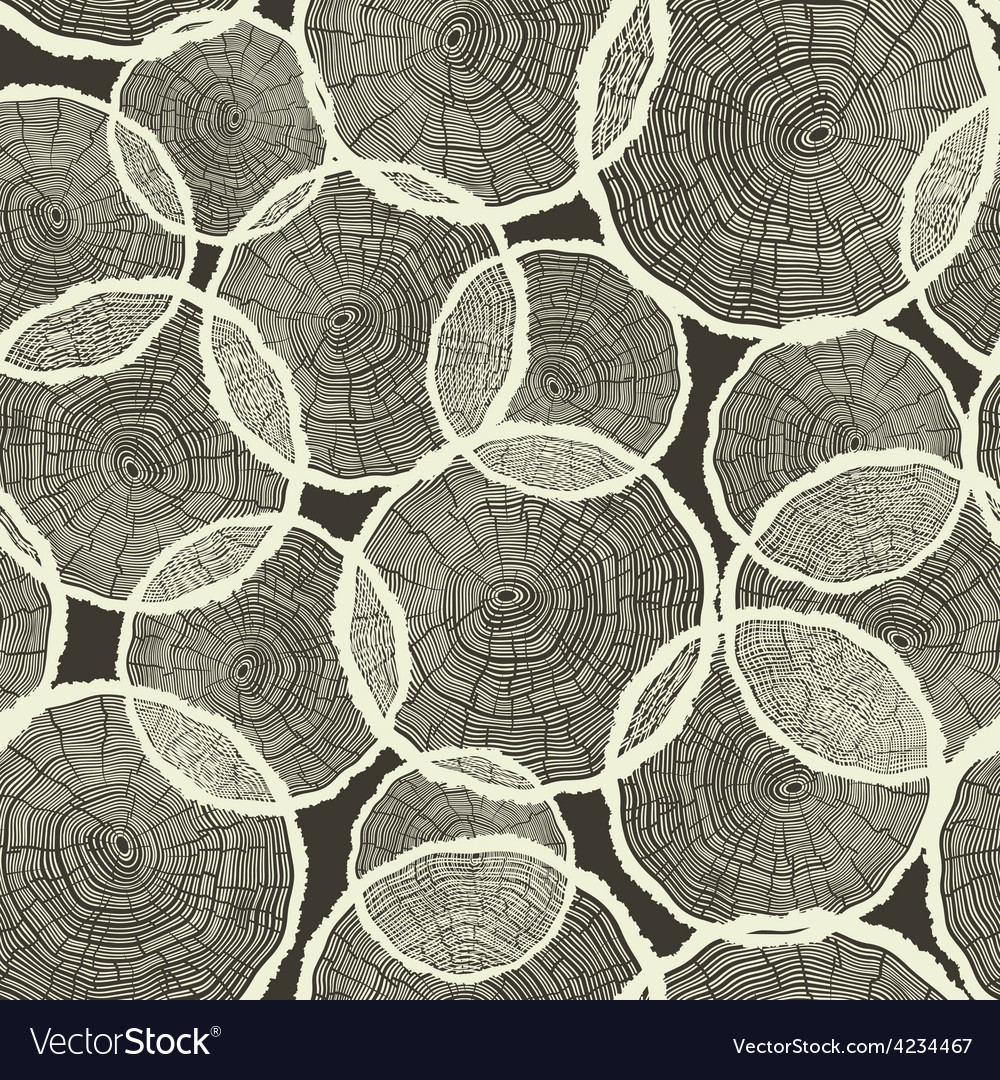 Seamless tree rings pattern vector | Price: 1 Credit (USD $1)