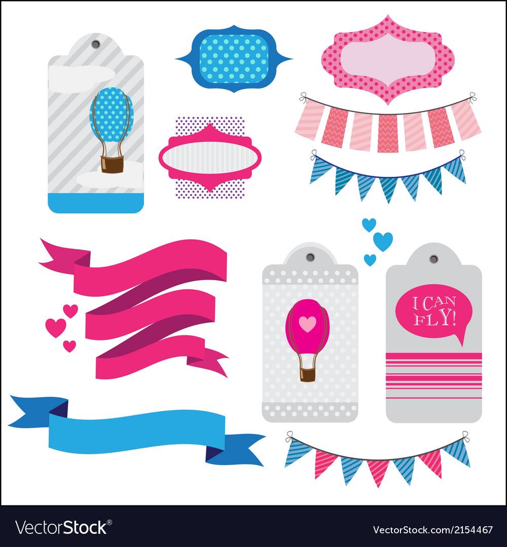 Set of ribbons and memory cards vector | Price: 1 Credit (USD $1)