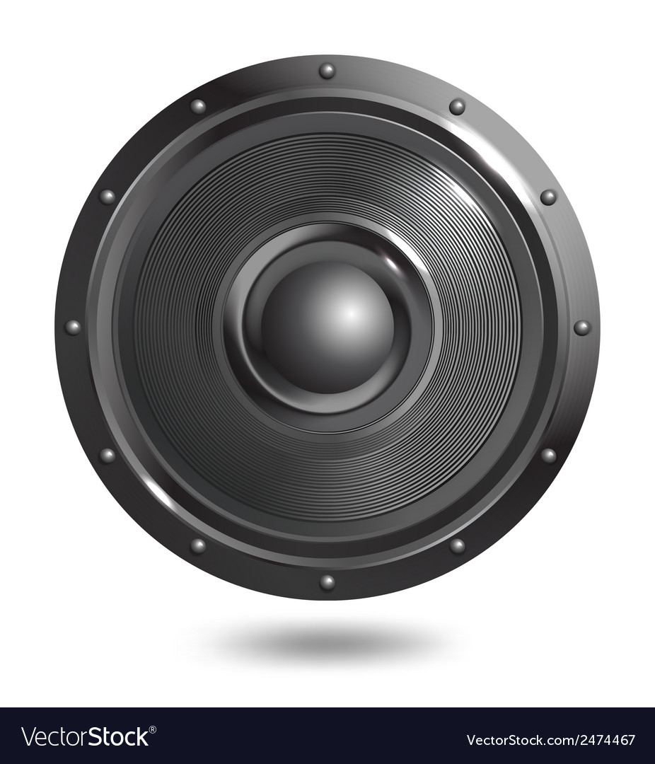 Sound speaker isolated vector | Price: 1 Credit (USD $1)