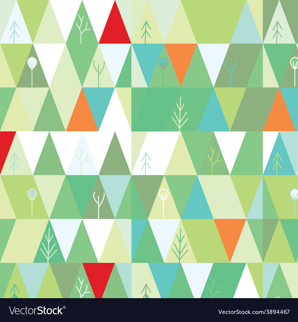 Winter tree background in geometric style vector | Price: 1 Credit (USD $1)