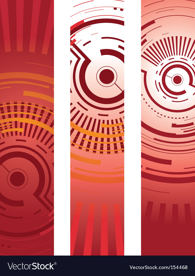 Abstract technology banners vector | Price: 1 Credit (USD $1)
