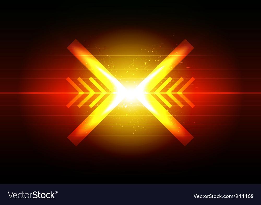 Arrow crash design vector | Price: 1 Credit (USD $1)