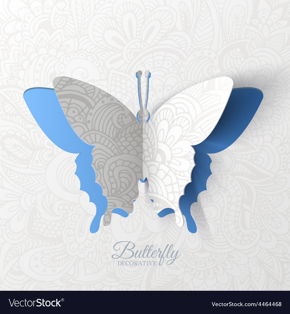 Beautiful colorful butterfly background concept vector | Price: 1 Credit (USD $1)