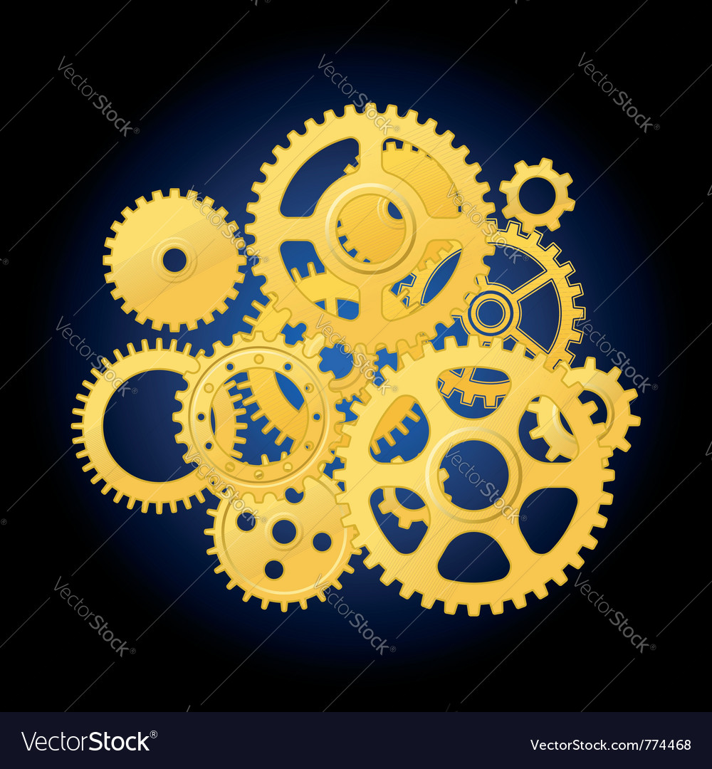 Clockwork mechanism vector | Price: 1 Credit (USD $1)