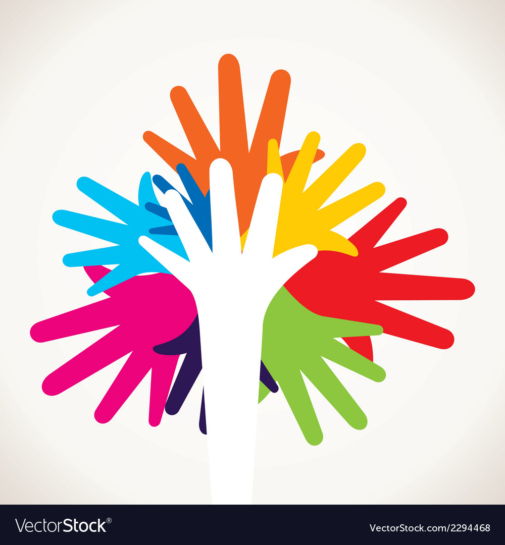 Colorful hand stock vector | Price: 1 Credit (USD $1)