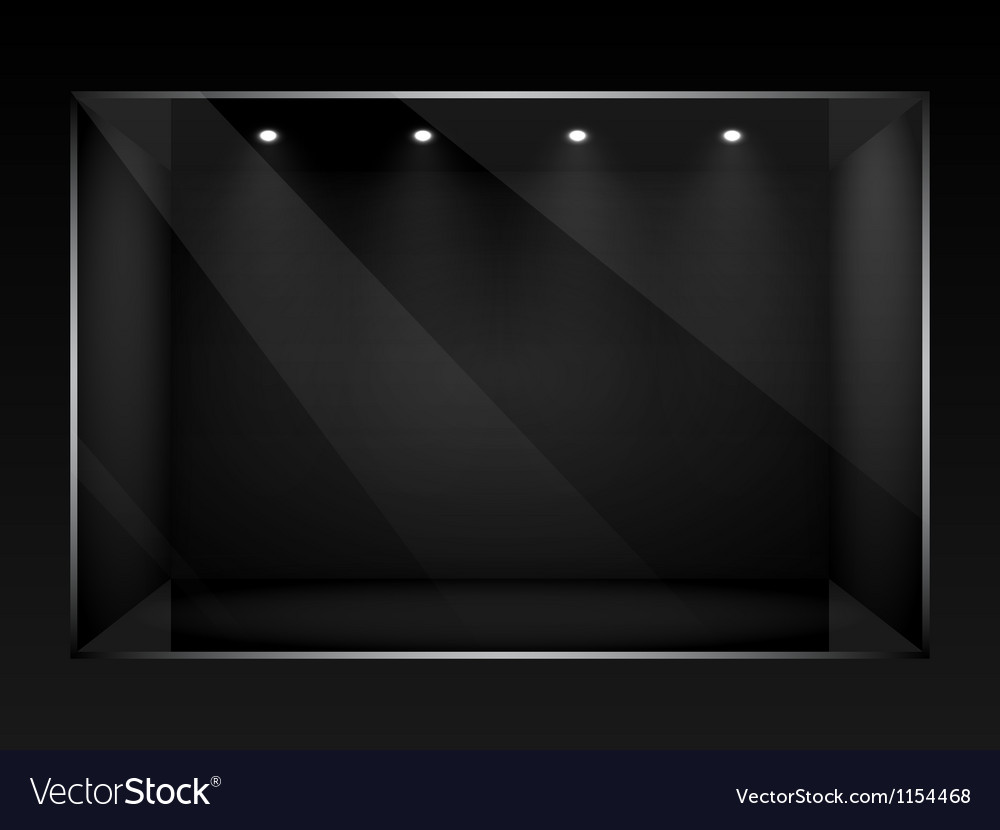 Dark empty show window of shop vector | Price: 1 Credit (USD $1)