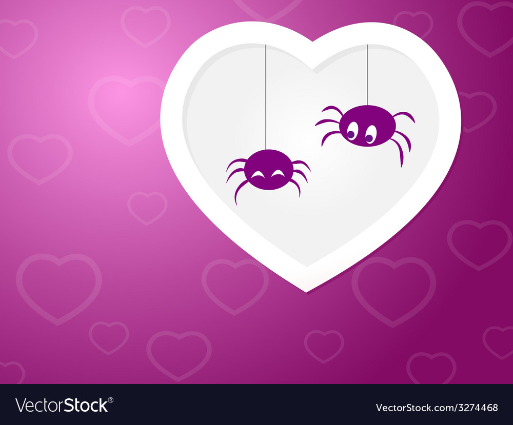 Funny spiders love vector | Price: 1 Credit (USD $1)