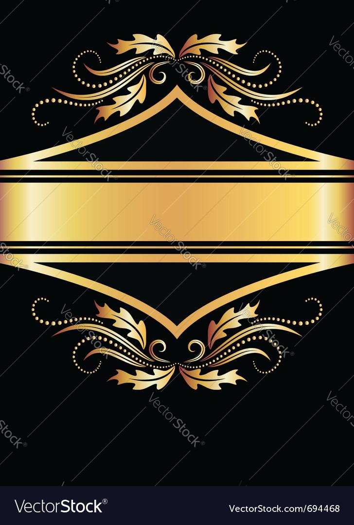 Golden floral banner vector   Price: 1 Credit (USD $1)