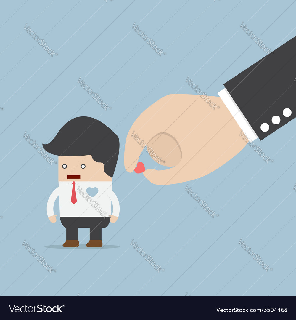 Hand giving heart to businessman vector | Price: 1 Credit (USD $1)