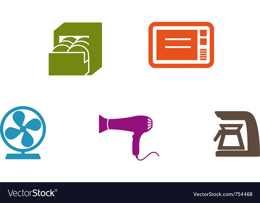 Home supply icons vector | Price: 1 Credit (USD $1)