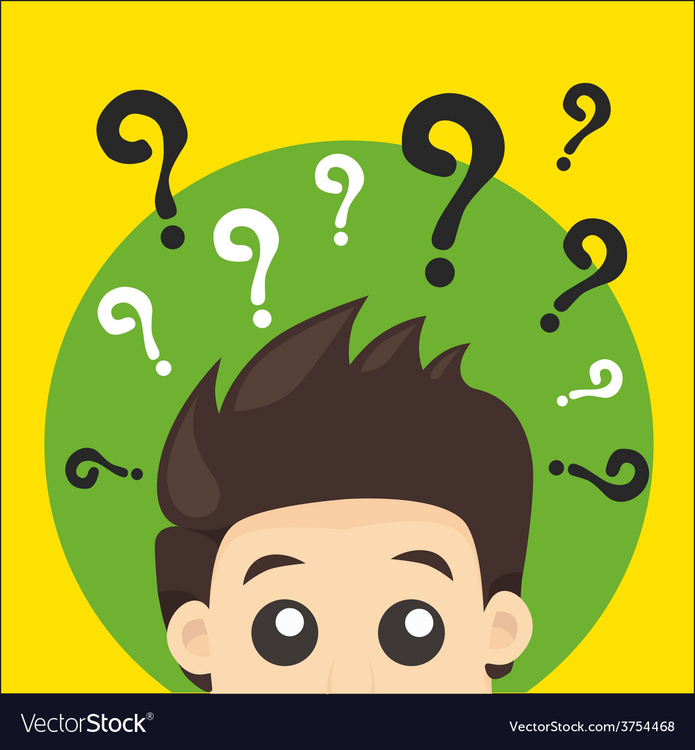 Questionman vector | Price: 1 Credit (USD $1)