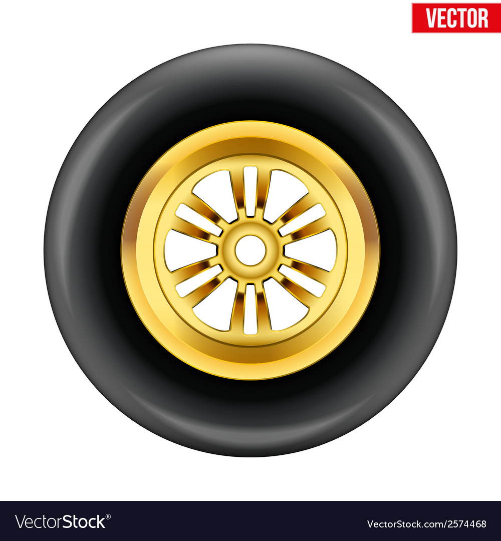 Race wheel and tire symbol vector | Price: 1 Credit (USD $1)
