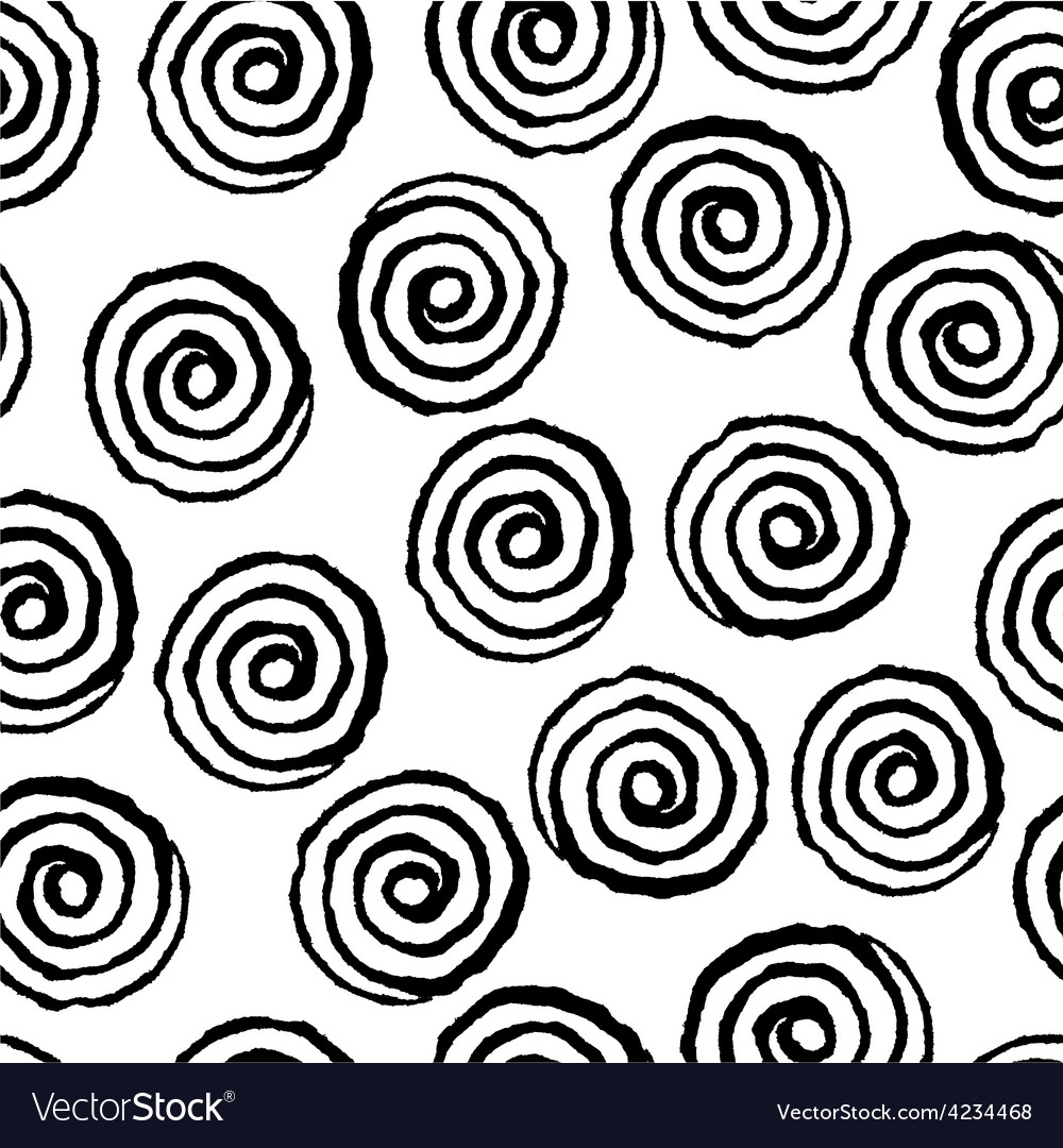 Spiral twirl pattern seamless vector | Price: 1 Credit (USD $1)