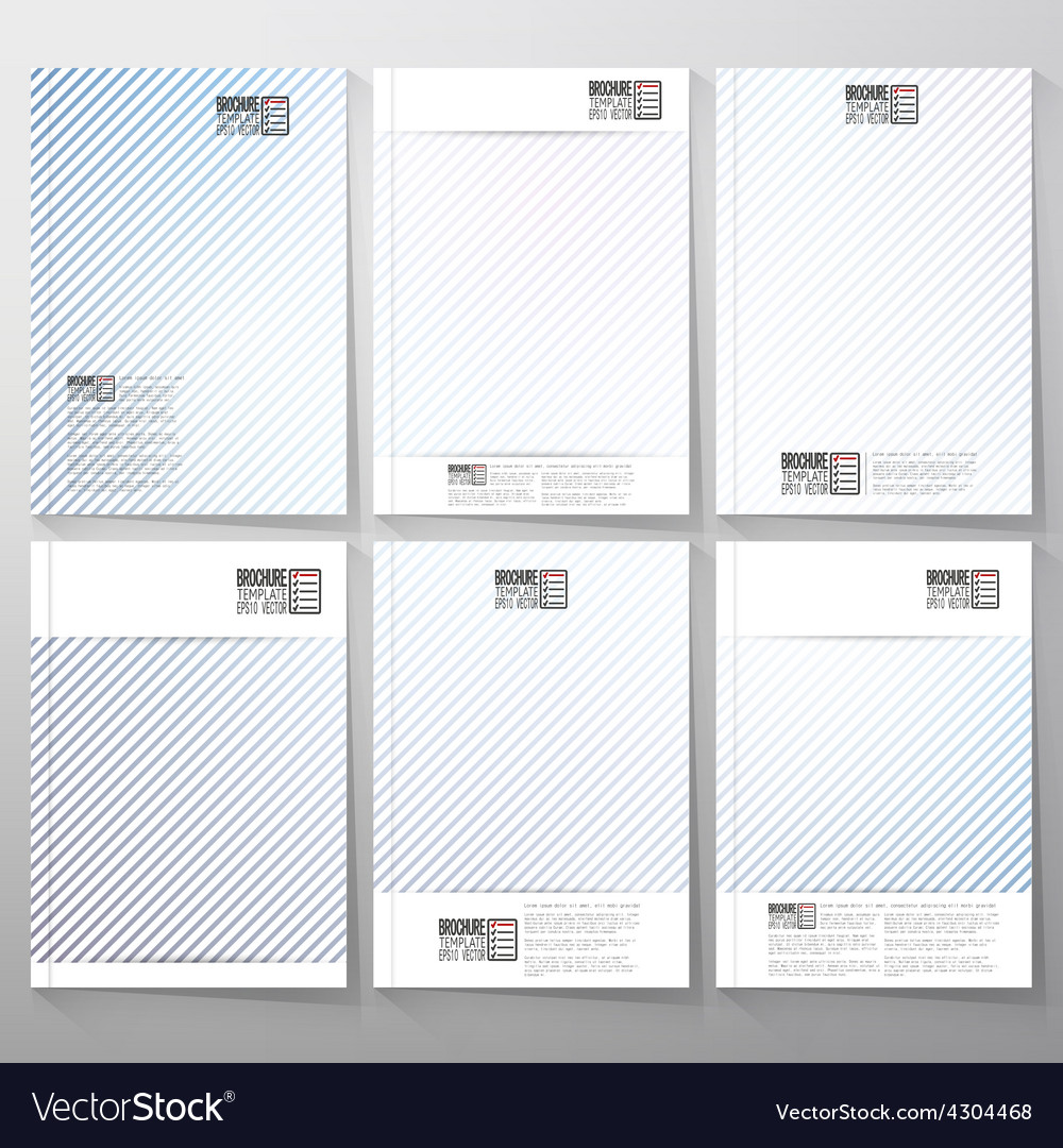 Striped blue background brochure flyer or vector | Price: 1 Credit (USD $1)