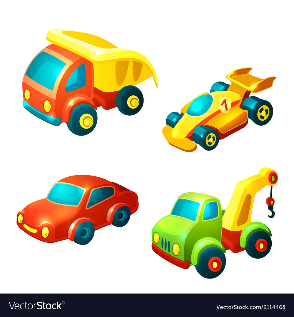 Transport toys set vector | Price: 1 Credit (USD $1)