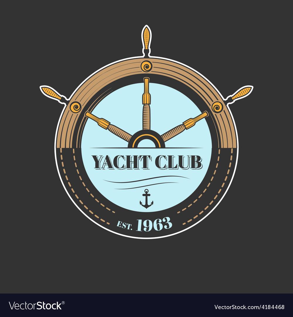 Yacht club logo vector | Price: 1 Credit (USD $1)