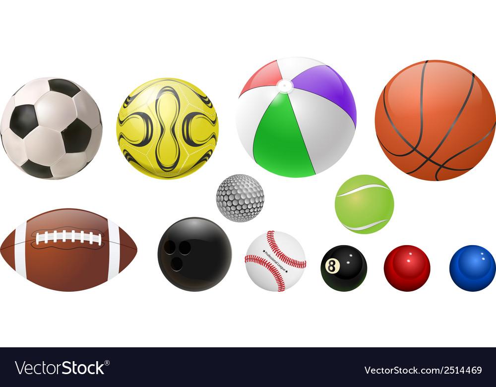 Balls set vector | Price: 1 Credit (USD $1)