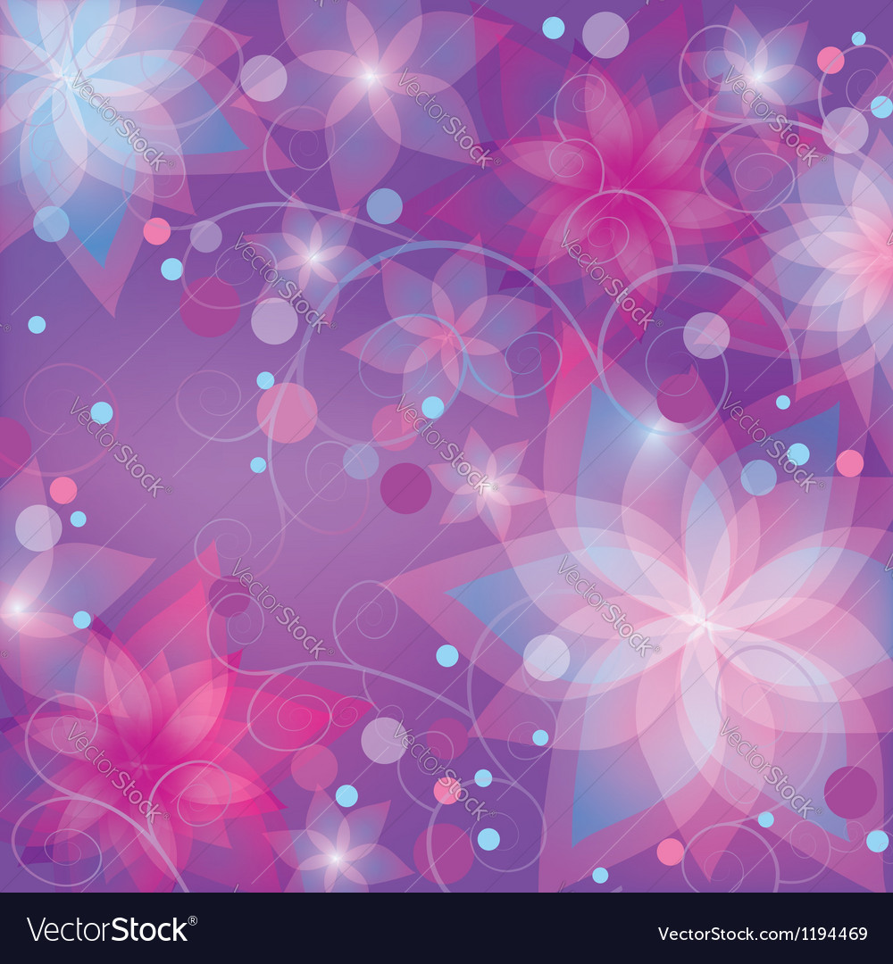 Bright colorful floral background vector | Price: 1 Credit (USD $1)