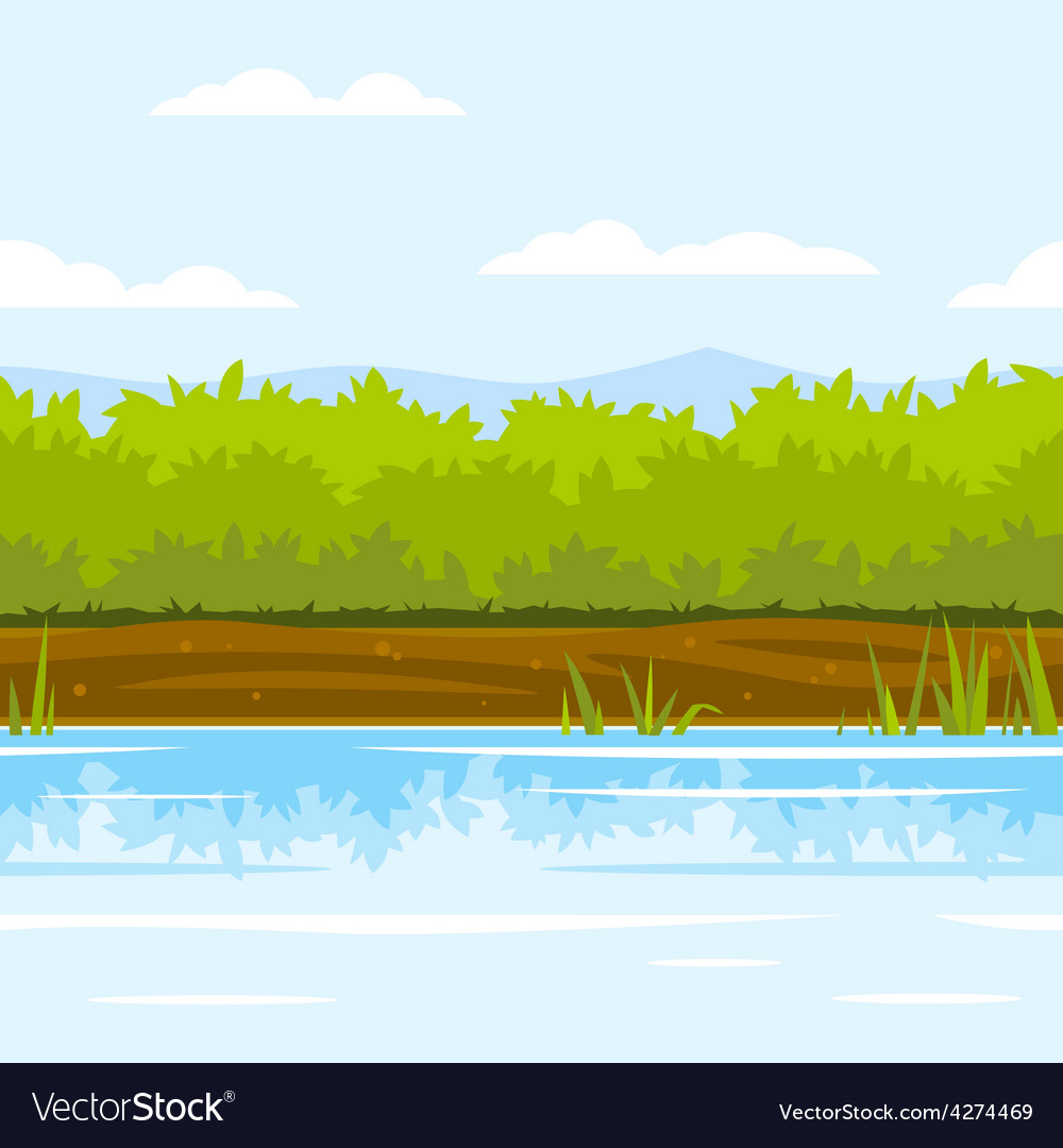Bushes game background vector | Price: 3 Credit (USD $3)