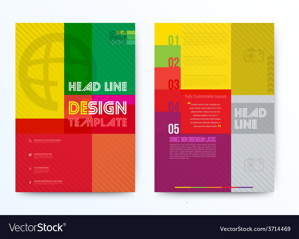 Design template for brochure vector | Price: 1 Credit (USD $1)