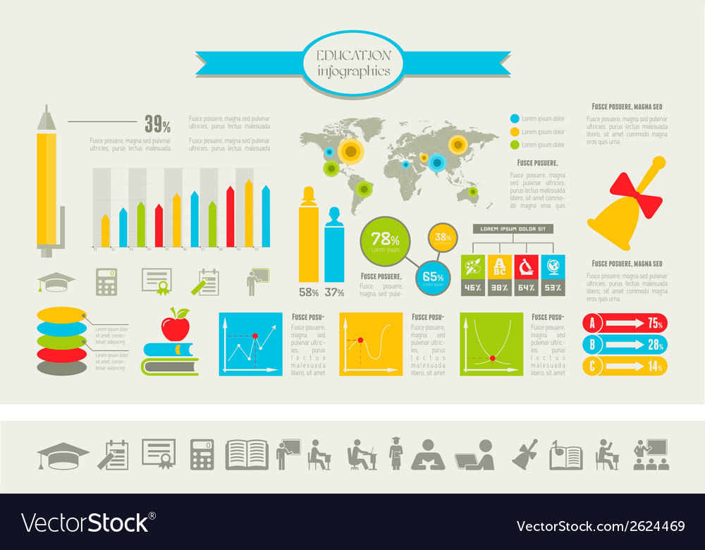 Education infographics vector   Price: 1 Credit (USD $1)