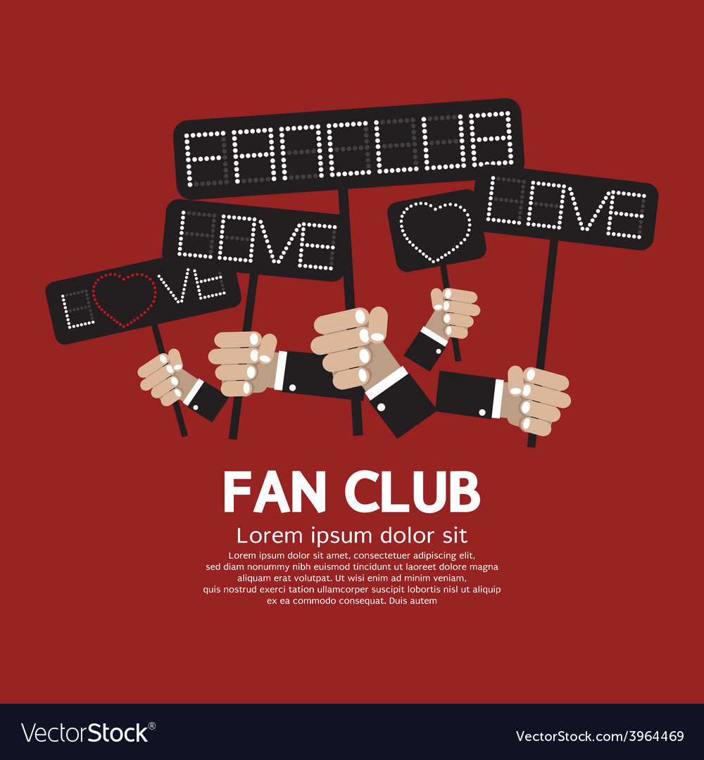 Fan club showing message board vector | Price: 1 Credit (USD $1)