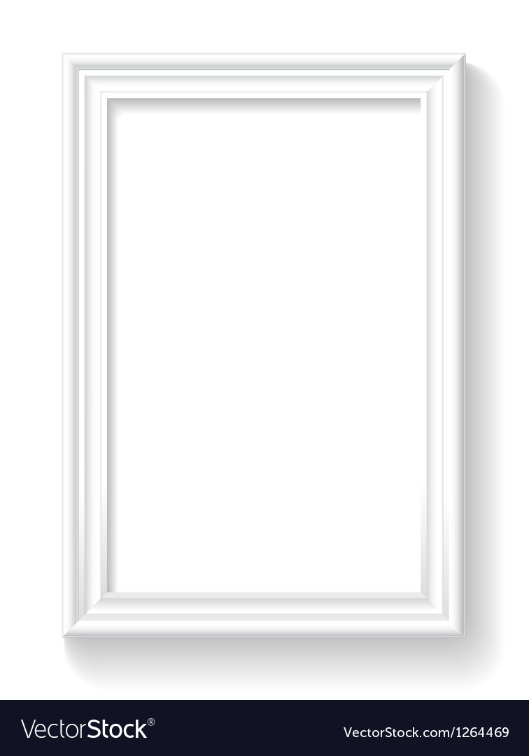 Frame on white wall vector