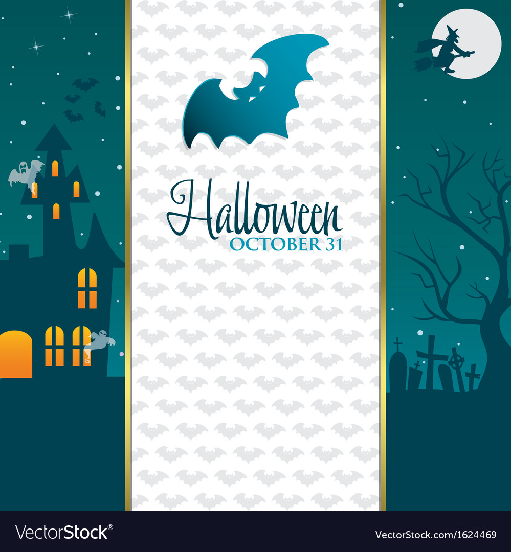 Halloween gradient banner vector | Price: 1 Credit (USD $1)