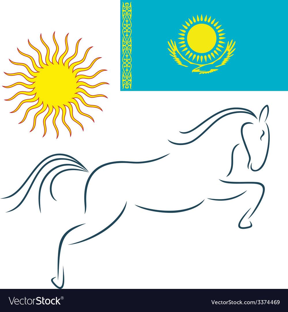 Kazakhstan vector | Price: 1 Credit (USD $1)
