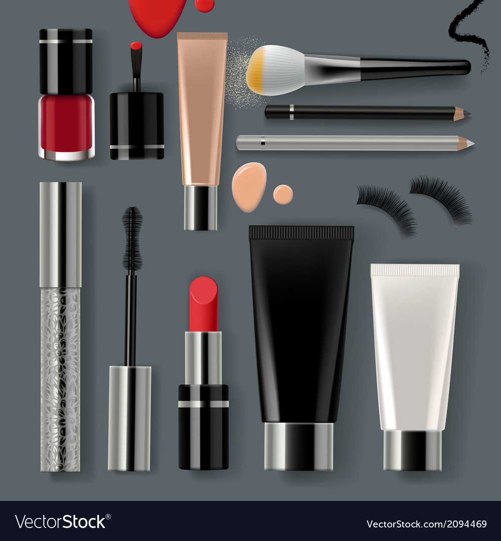 Makeup set collection vector | Price: 1 Credit (USD $1)