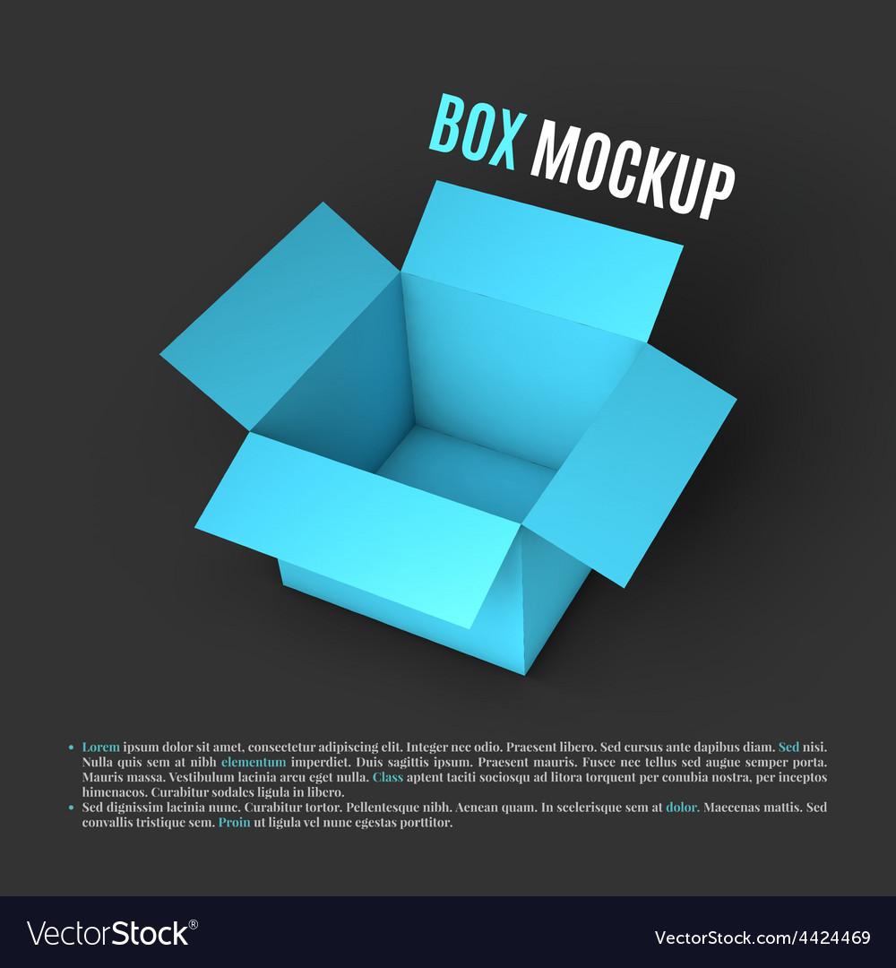 Open box mockup template vector | Price: 1 Credit (USD $1)