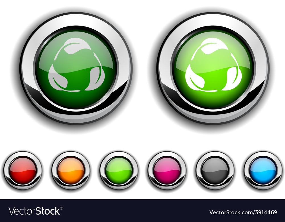 Recycle button vector   Price: 1 Credit (USD $1)