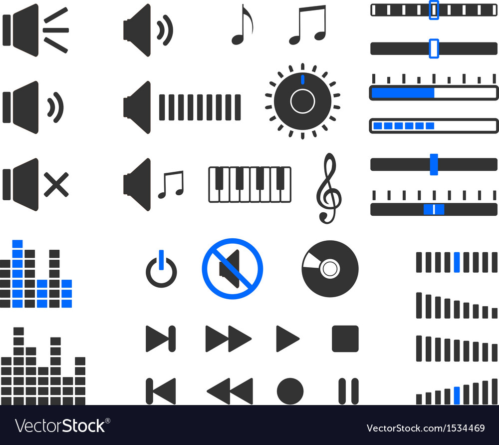 Sound elements vector | Price: 1 Credit (USD $1)