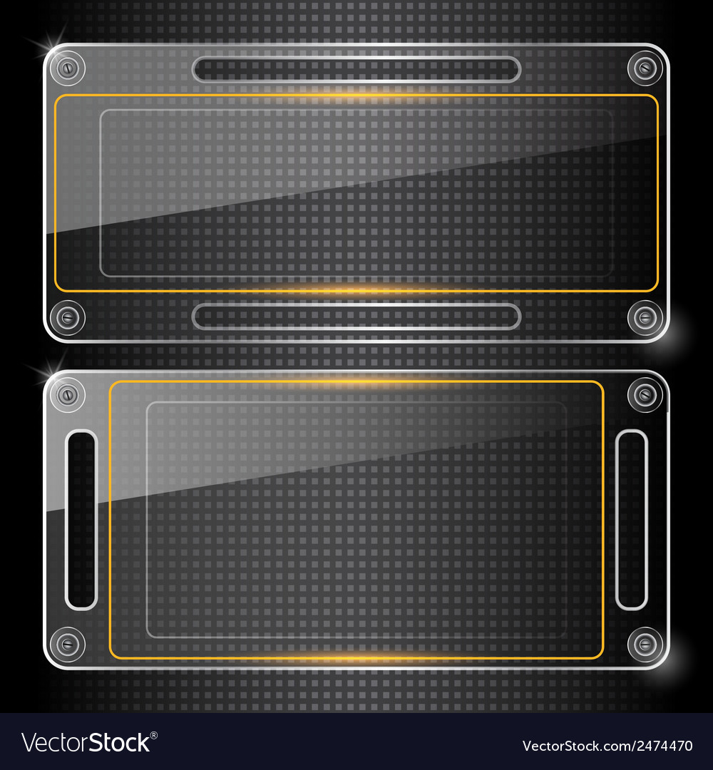 Abstract background with glass banners vector   Price: 1 Credit (USD $1)