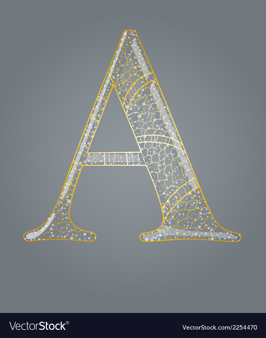 Abstract golden letter a vector   Price: 1 Credit (USD $1)