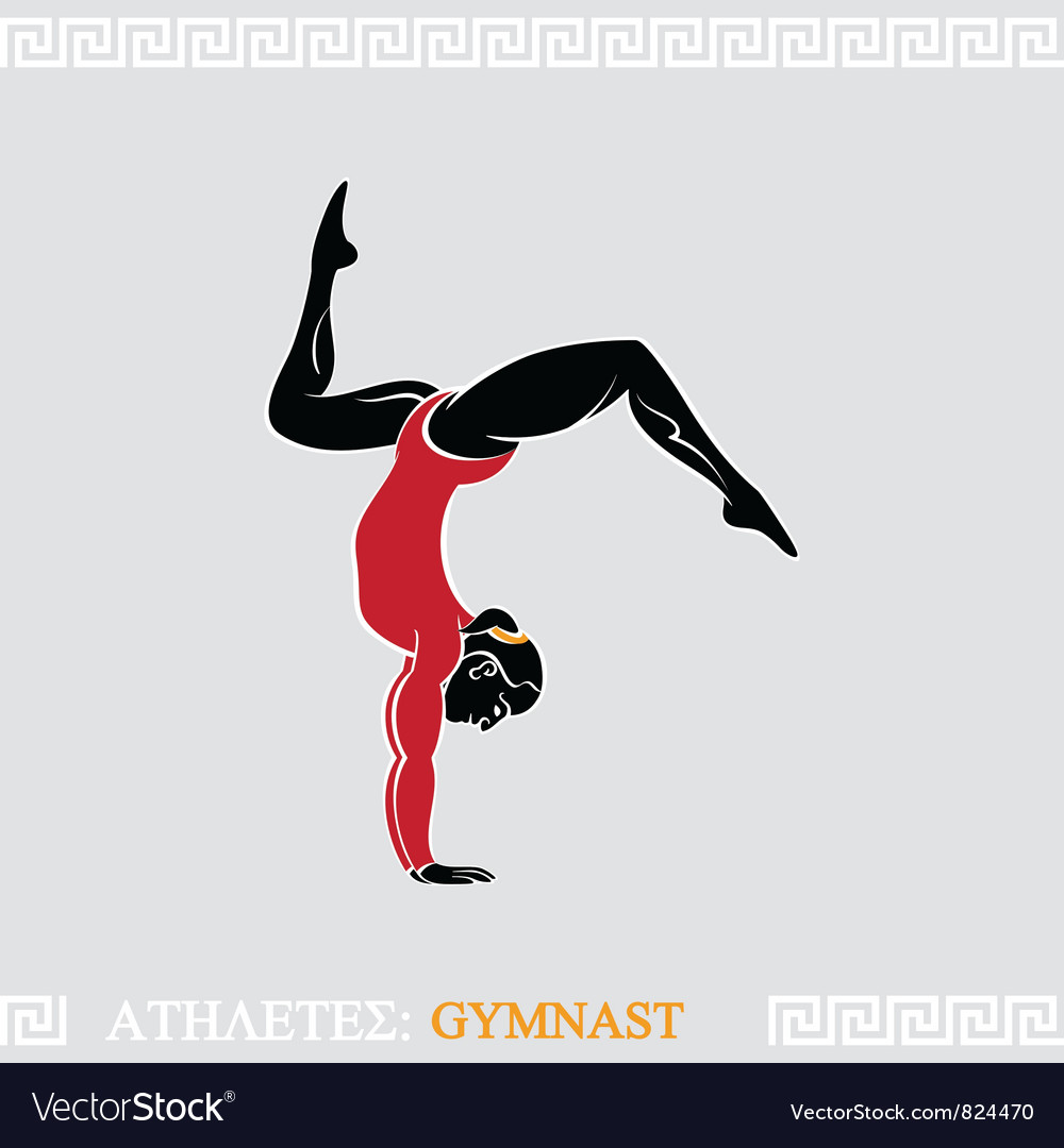 Athlete gymnast vector | Price: 1 Credit (USD $1)