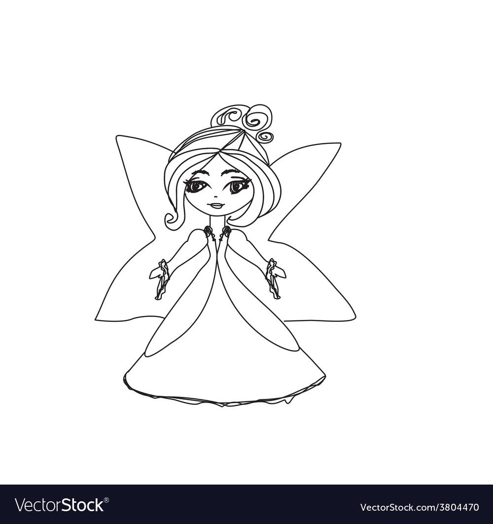Beautiful little fairy vector | Price: 1 Credit (USD $1)