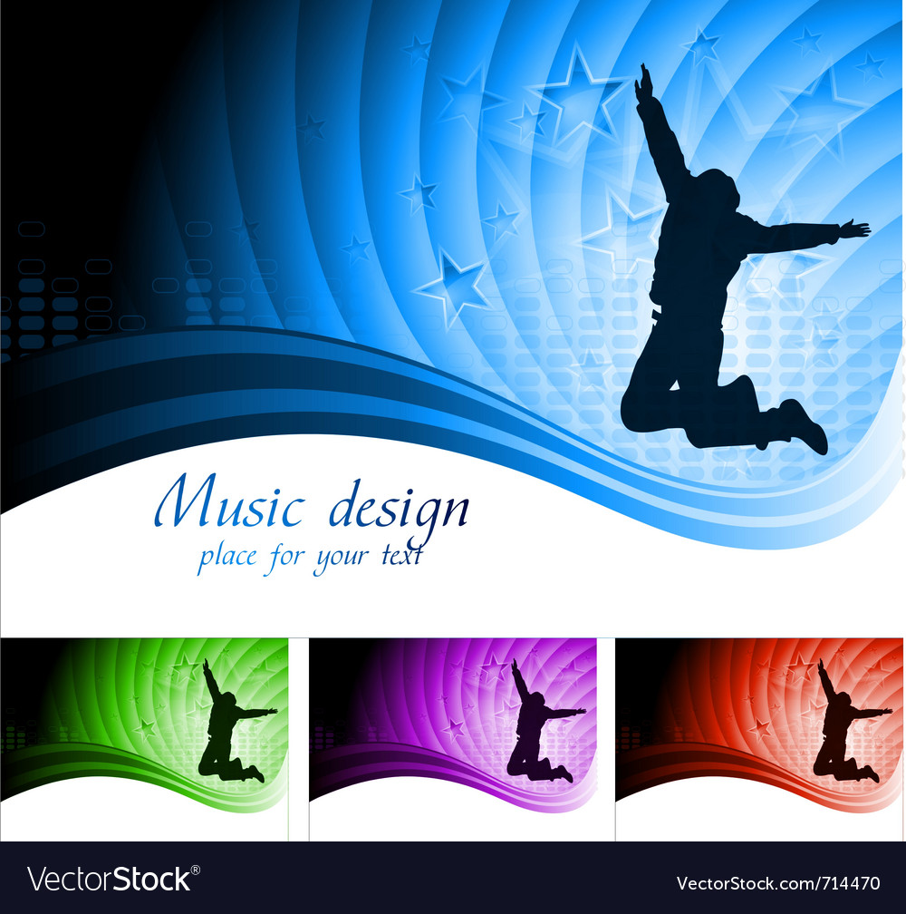 Beautiful musical backdrop vector | Price: 1 Credit (USD $1)
