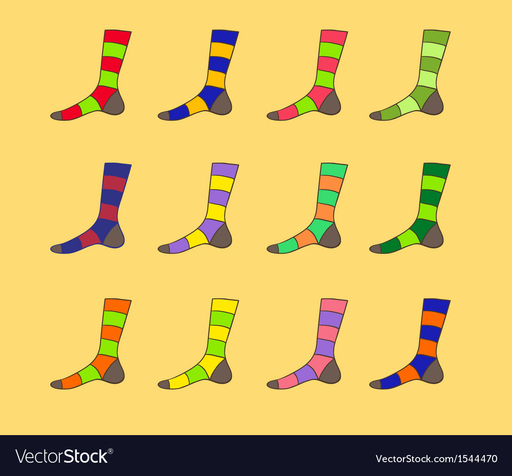 Christmas socks vector | Price: 1 Credit (USD $1)