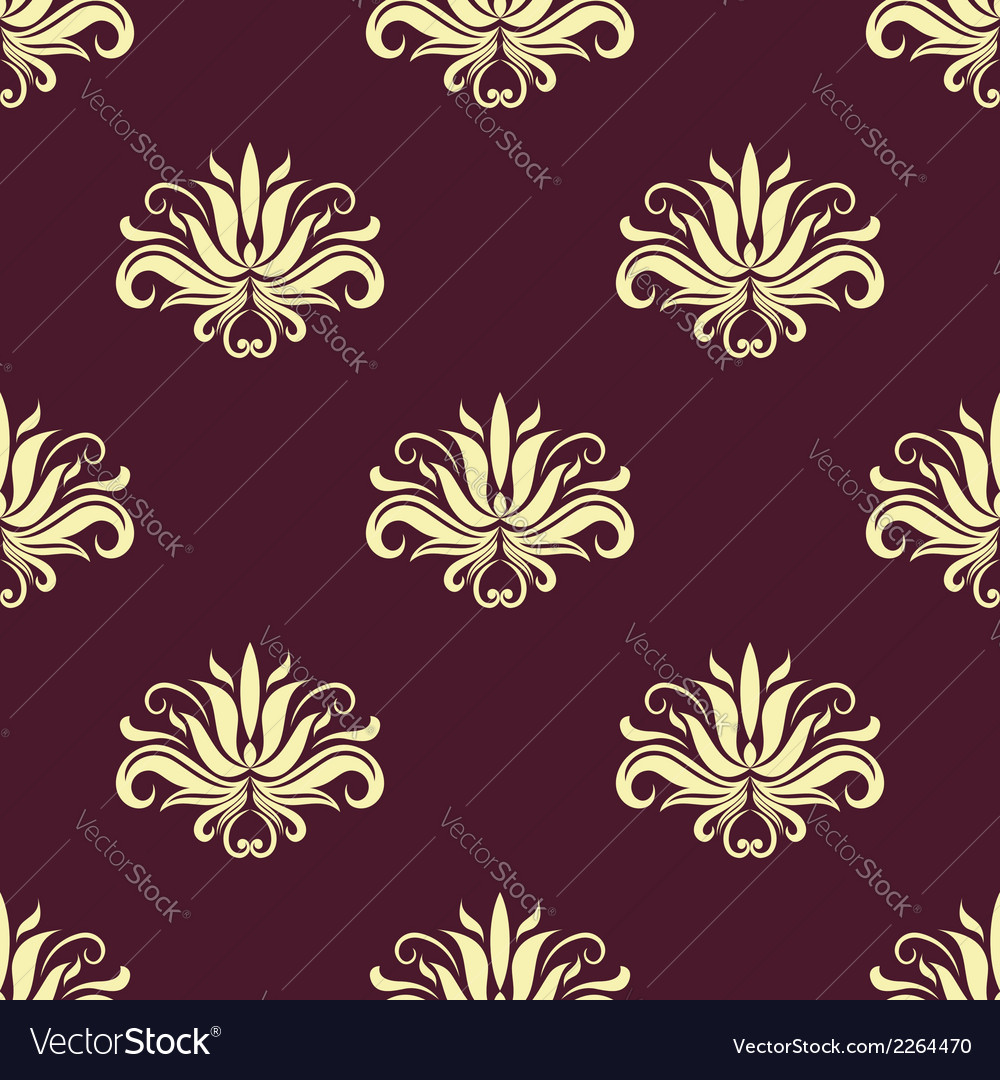 Dainty floral purple and beige seamless pattern vector   Price: 1 Credit (USD $1)