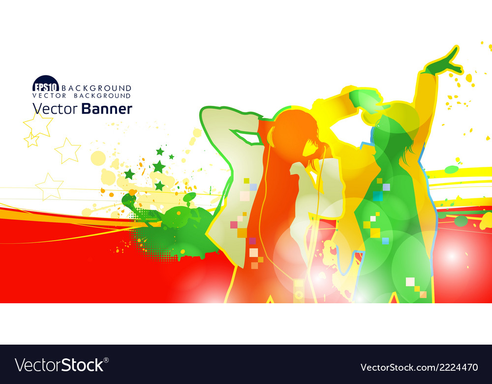 Dj banner vector | Price: 1 Credit (USD $1)