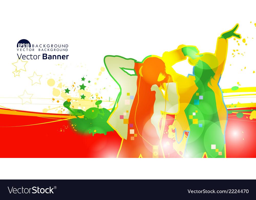 Dj banner vector | Price: 1 Credit (USD $1)