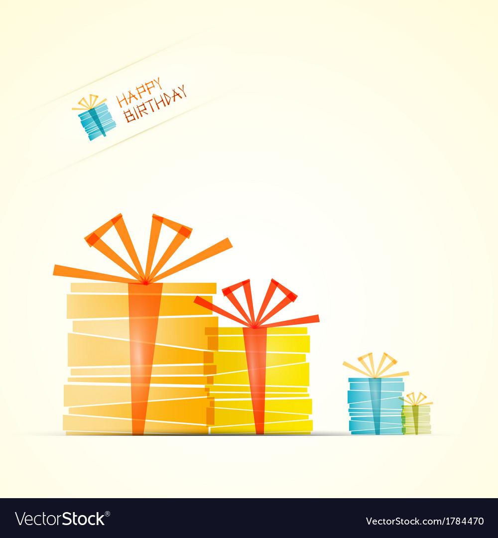 Happy birthday theme present boxes vector | Price: 1 Credit (USD $1)