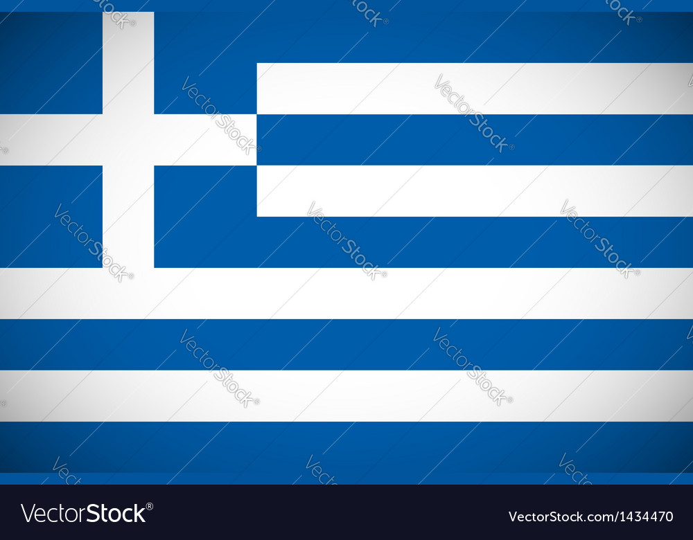 National flag of greece vector | Price: 1 Credit (USD $1)