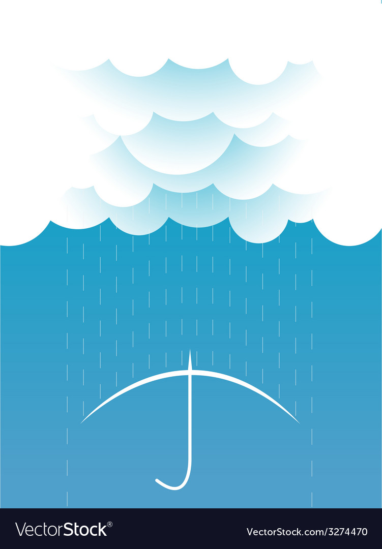 Rain image with dark clouds in wet day vector | Price: 1 Credit (USD $1)