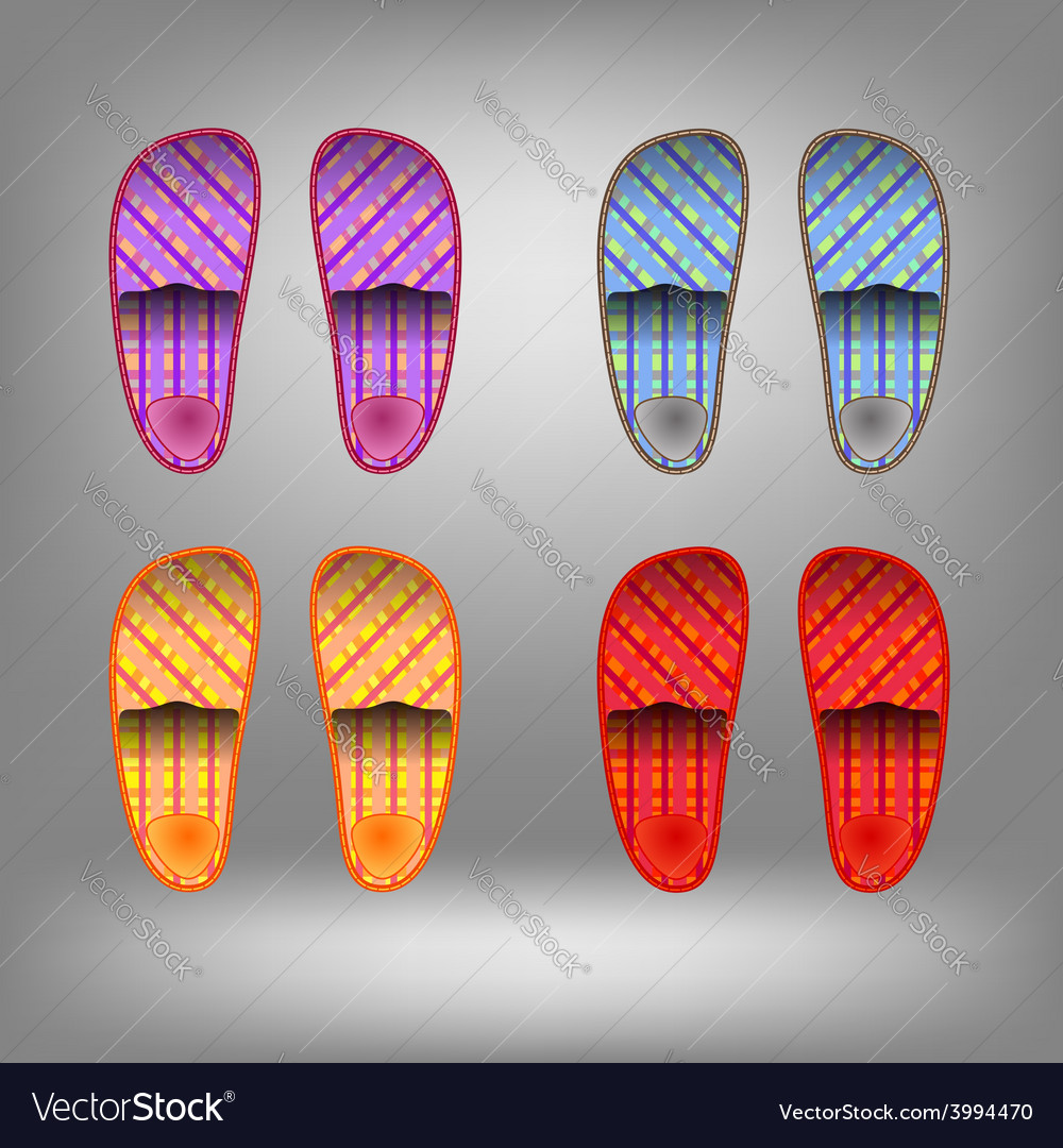 Shoes for home vector | Price: 1 Credit (USD $1)