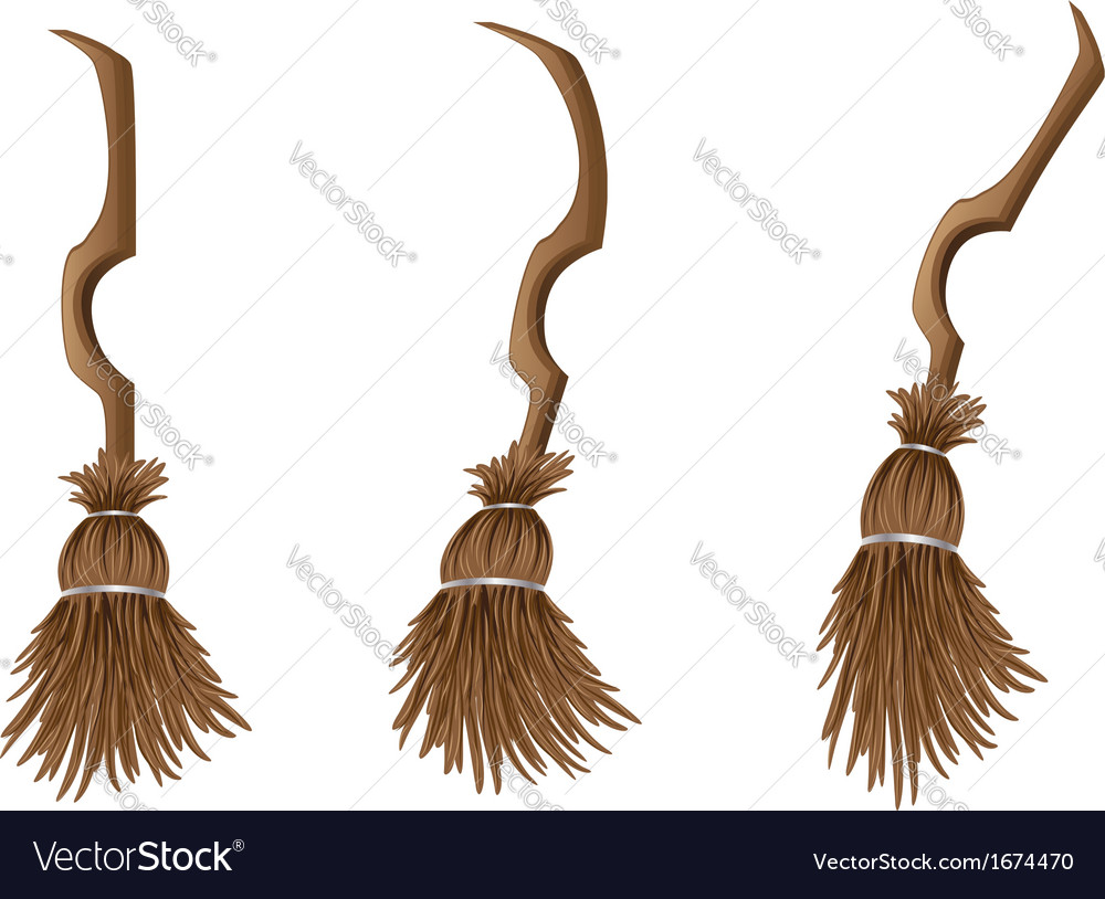 Stylish broom vector | Price: 1 Credit (USD $1)