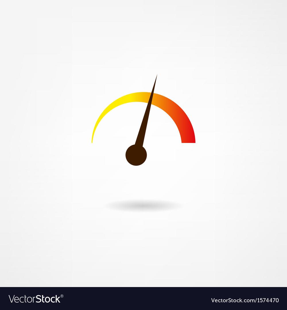 Tachometer icon vector | Price: 1 Credit (USD $1)